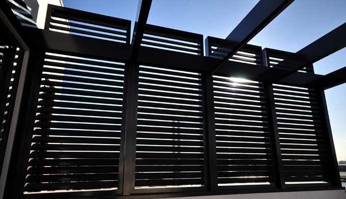 outdoor metal privacy screen
