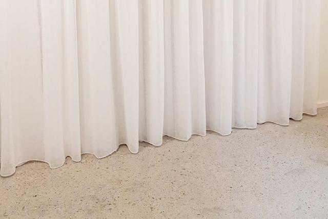 sheer curtain installation